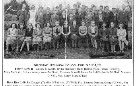 Kilfinane Technical School Pupils. 1950s