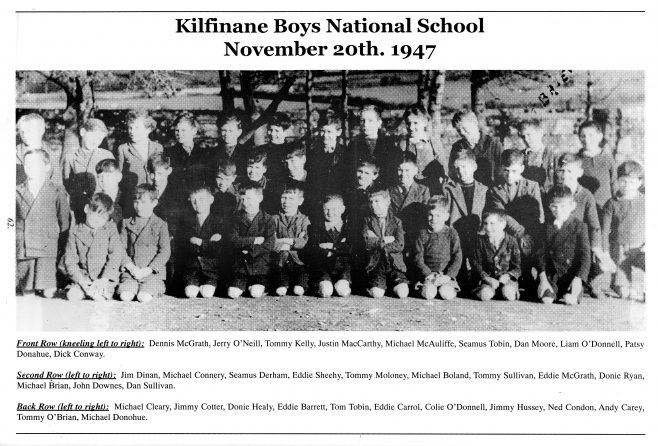 Boys National School 1947 | kilfinane Coshlea Historical Society