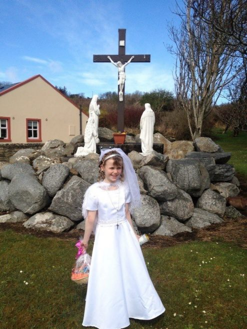 Lacken Church, First Communion (Model: Charlotte Land) | Valkyriekerry  Kelly