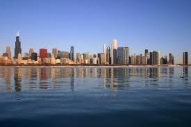View of Chicago from Lakefront | https://commons.wikimedia.org/wiki/File:Chicago_Skyline_from_Lake_Michigan.jpg