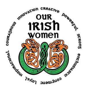 Our Irish Women logo design suggestion by Clare Horgan, Claregalway Historical Society   Clare Horgan
