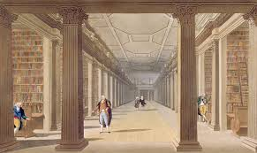 Long Room, Trinity College Watercolour by James Malton | https://commons.wikimedia.org/wiki/File:James_Malton_Trinity_College_Library_Dublin.jpg