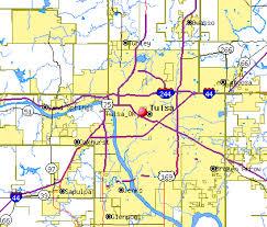 Map of Tulsa 2006 Nmajdan | https://commons.wikimedia.org/wiki/File:Tulsa,_OK_-_TIGER_map.gif