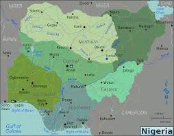 Nigeria Regions Map | https://commons.wikimedia.org/wiki/File:Nigeria_Regions_map.png