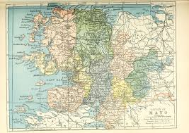 Baronies of Mayo Map 1900 by Patrick Weston Joyce | https://commons.wikimedia.org/wiki/File:Baronies_of_Mayo.jpg