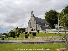 Swinford's  Our Lady Help of Christian's Church | https://commons.wikimedia.org/wiki/File:Our_Lady_Help_of_Christians_Church-Swinford,_Co._Mayo_-_geograph.org.uk_-_619885.jpg
