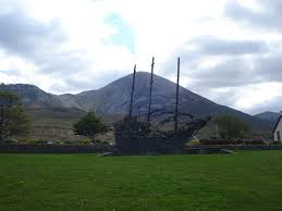 Famine Memorial Murrisk Co. Mayo | https://commons.wikimedia.org/wiki/File:National_Famine_Monument_with_Croagh_Patrick_in_the_background.jpg