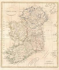 Map of Ireland by Clement Cruttwell 1799 | https://commons.wikimedia.org/wiki/File:1799_Clement_Cruttwell_Map_of_Ireland_-_Geographicus_-_Ireland-cruttwell-1799.jpg