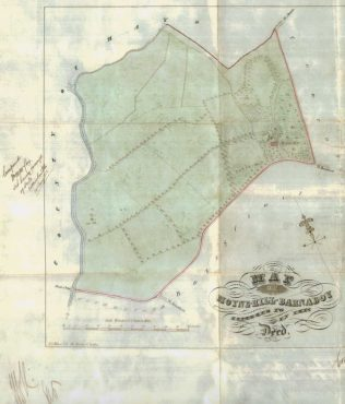 Map from transfer deed of Moyne Hill | Innes Hutchison