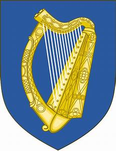 Harp Coat of Arms Ireland | https://commons.wikimedia.org/wiki/File:Arms_of_the_Republic_of_Ireland.svg