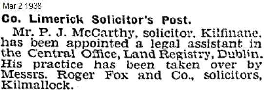 Patrick J McCarthy, state solicitor