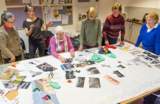 Textile project participants at the Museum of Country Life | Brian Cregan
