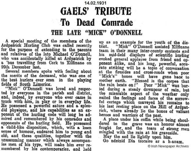 Michael O'Donnell obit