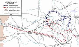 Battle of Bull Run Map | https://commons.wikimedia.org/wiki/File:Gettysburg_Battlefield_(3440787651).jpg