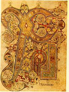 Book of Kells ChiRho Folio 34 R, Page C 800 AD | https://commons.wikimedia.org/wiki/File:Book_of_Kells_ChiRho_Folio_34R.png