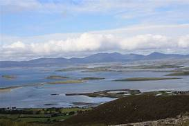 Westport Bay, Co. Mayo | https://commons.wikimedia.org/wiki/File:Westport_Bay_a_view_from_Croagh_Patrick_Mountain,Westport,Co.Mayo,Ireland_-_panoramio.jpg