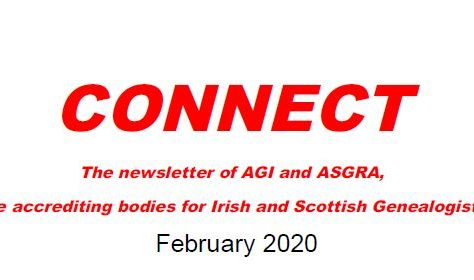 iCAN features in Connect: Newsletter of the accrediting bodies for Irish & Scottish Genealogists