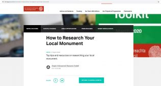 Adopt a monument home page
