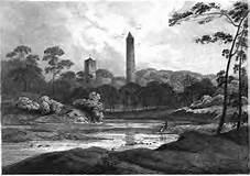1820 Round Tower. Clondalkin, South Dublin |  https://commons.wikimedia.org/wiki/File:Round_Tower_Clondalkin_Dublin_1820.jpg