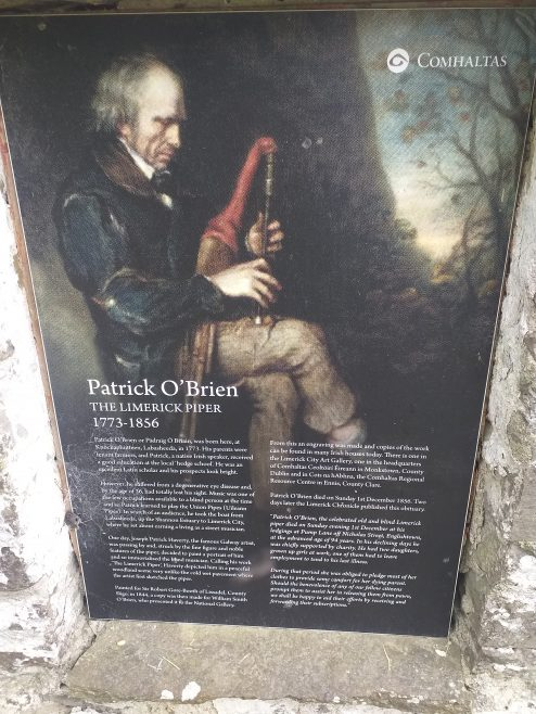 Information Plaque on 'The Limerick Piper' Pádraig O'Briain | Comhaltas Ceoltoiri Eireann, 2017