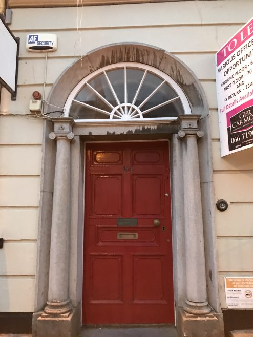 County Kerry Club red front door | Denny St Tralee