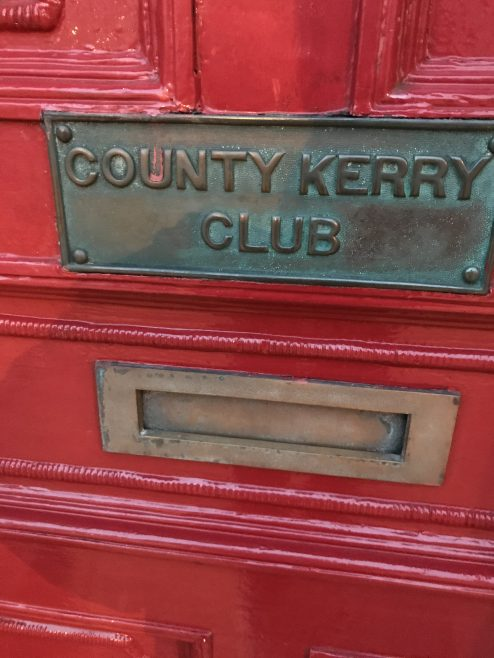 County Kerry Club door sign | Denny St Tralee