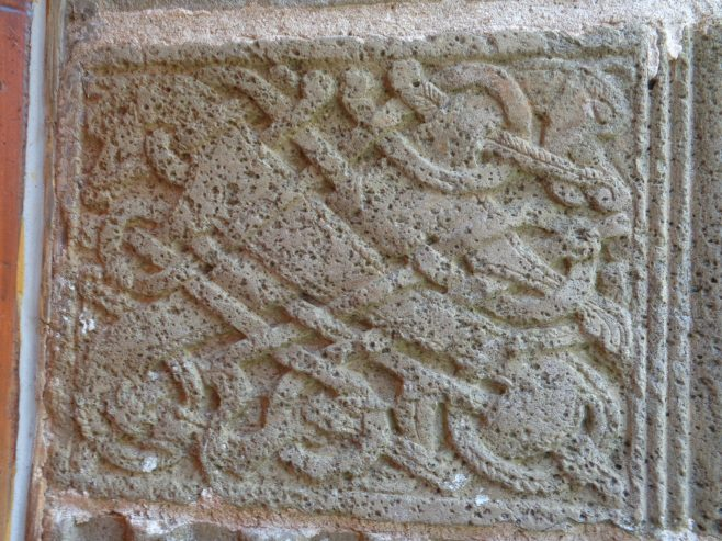 Detail of romanesque art on St. Feidhlimidh Cathedral Door | Christopher Kirk