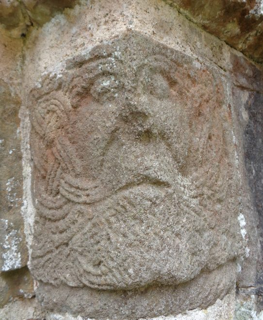 Romanesque face on St. Feidhlimidh Cathedral Door | Christopher Kirk