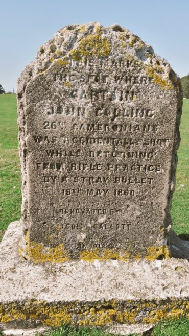 Heritage in The Curragh, Co. Kildare | Marker for Captain John Collins - 1860