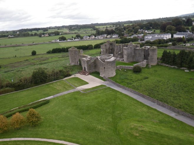 I often use a kite to fly my cameras, so this is Roscommon castle from the air. | Frank Scott