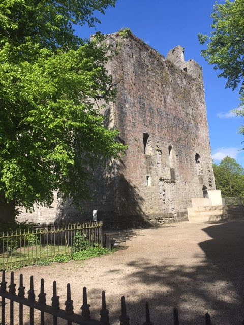 Maynooth Castle May 2020: View of the keep | Elaine Burke