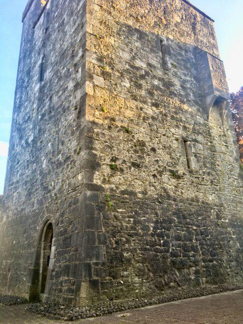 Maudlin Castle - Kilkenny's forgotten Leper Hospital | Maudlin Castle east & north side with ground floor entrance gate & garderobe – Geni Murphy