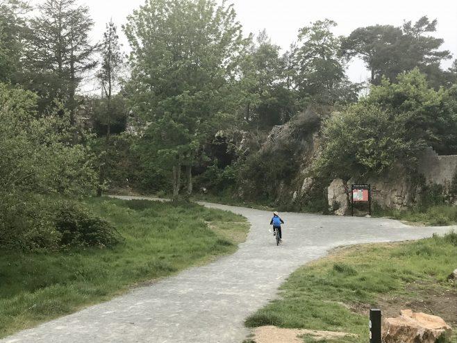 Having fun on the mountain bikes   Ian Doyle