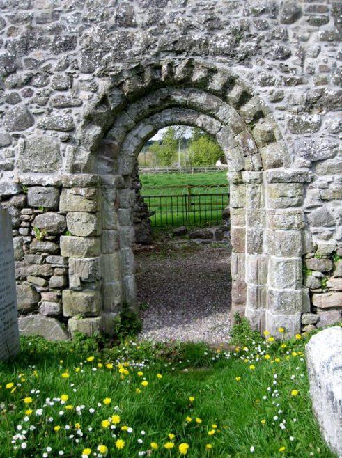 Kilcash church Romanesque doorway