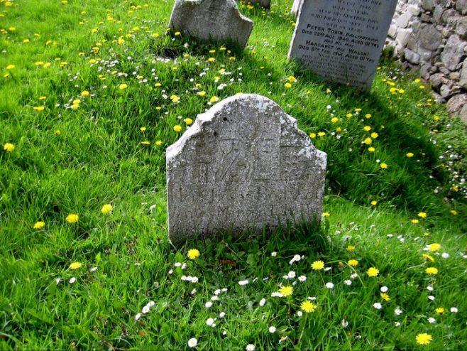 Kilcash church gravestone
