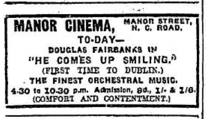 Evening Herald ad for the cinema's opening programme | Evening Herald 10 May 1920