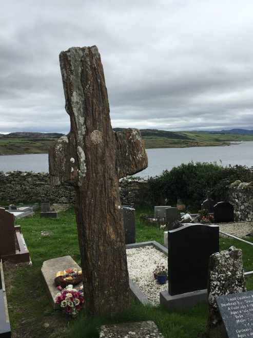 The Mevagh Cross, date unknown, at Clontallagh, Shoresof Mulroy Bay, Parish of Mevagh | Angela Gallagher