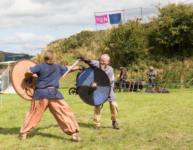 Medieval battle at Gallows Hill, 2018 | John Foley
