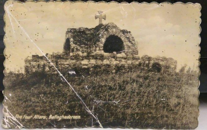 Old Postcard if the Four Altars | Eithne Gallagher