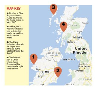 Map of Places connected to the 'Myra'   Mayo News Collection