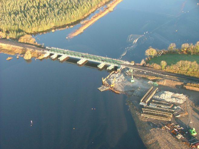 Aerial view of Drumsna Bridge | Iarnród Éireann Irish Rail