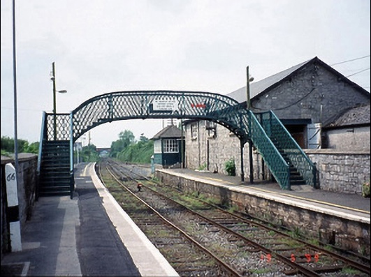 Muine Bheag cast-iron footbridge over railway line, c.1880 | National Inventory of Architectural Heritage