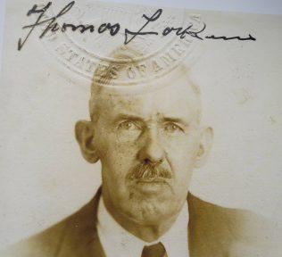 Photograph of Thomas Larkin from his American passport.  | Thomas Larkin archives/Michael Larkin
