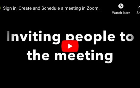 Zoom Sign-in, create and schedule a meeting