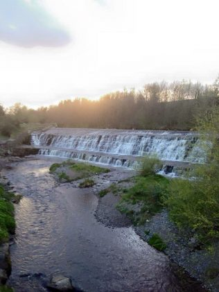 From the pedestrian bridge onto the falls | Tallaght Community Council