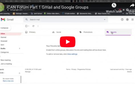 iCAN Forum Part 1 Gmail and Google Groups