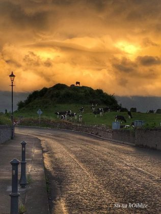 Atmospheric  shot of Nobber motte-and-bailey, constructed in the 1170s. | picsweld@gmail.com