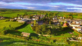 Aerial view of St. John's Old Cemetery & Nobber Heritage Centre. | picsweld@gmail.com