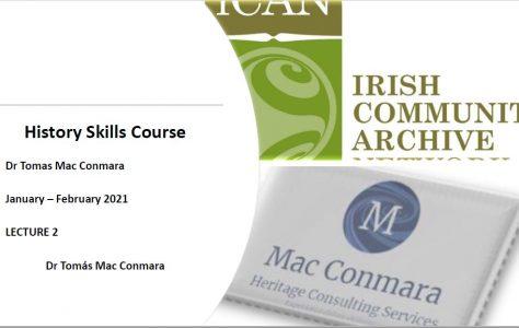 Historian Skills: Lecture 2