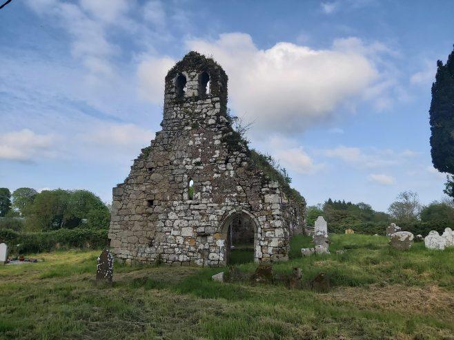 Kilmolash Church, west wall of church with doubly belfry  | Trisha Ryan